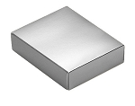 Folding Carton, This Top - That Bottom, Lid, 4 oz., Rectangle, Metallic Silver, QTY/CASE-50