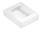 Folding Carton, This Top - That Bottom, Window Lid, 4 oz., Rectangle, White, QTY/CASE-50