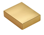 Folding Carton, This Top - That Bottom, Lid, 4 oz., Rectangle, Metallic Gold, QTY/CASE-50