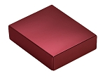 Folding Carton, This Top - That Bottom, Lid, 4 oz., Rectangle, Metallic Red, QTY/CASE-50