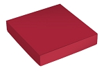 This Top - That Bottom, Lid, Square, Red, 5-1/2 x 2-1/2 x 1-1/8