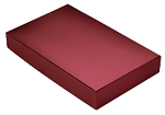 Folding Carton, This Top - That Bottom, Lid, 8 oz., Rectangle, Metallic Red, QTY/CASE-50