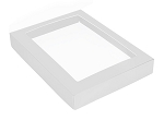 Folding Carton, This Top - That Bottom, Window Lid, 16 oz., Rectangle, White, QTY/CASE-50