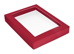 Folding Carton, This Top - That Bottom, Window Lid, 16 oz., Rectangle, Red, QTY/CASE-50