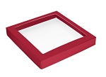 This Top - That Bottom, Window Lid, Square, Red, 7-1/2 x 7-1/2 x 1