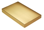 Folding Carton, This Top - That Bottom, Lid, 16 oz., Rectangle, Metallic Gold, QTY/CASE-50