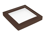Folding Carton, This Top - That Bottom, Window Lid, 16 oz., Square, Brown, QTY/CASE-50