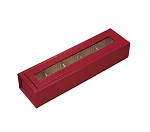 Rigid Set-Up Box, Magnetic Charm Window Box, 5-Piece, 5th Ave. Red, QTY/CASE-12