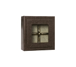 Rigid Set-Up Box, Magnetic Charm Window Box, 3 oz., Deco Bronze, QTY/CASE-12