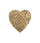 Padding, Heart, Gold, 4 oz., 4-1/2 x 4-1/2