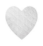 Padding, Heart, White, 8 oz., 5-1/2 x 6
