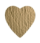 Padding, Heart, Gold, 8 oz., 5-1/2 x 6