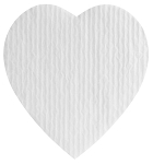 Padding, Heart, White, 1 lb., QTY/CASE-50