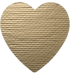 Padding, Heart, Gold, 1-1/2 lb., 10-1/4 x 10-1/2
