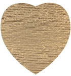Padding, Heart, Gold, 2 lb., QTY/CASE-50