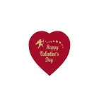 Heart Box, Foil Cupid Hot-Stamped, Red, 2 oz., QTY/CASE-48