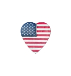 Heart Box, Denim Flag, 2 oz., QTY/CASE-48