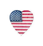 Heart Box, Denim Flag, 4 oz., QTY/CASE-48