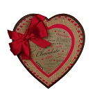 Heart Shaped Candy Box, Hugs and Kisses, Kraft, 8 oz., QTY/CASE-12