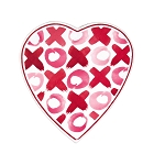 Heart Shaped Candy Box, XOXO, 8 oz., QTY/CASE-24