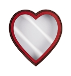 Heart Shaped Candy Box, Window, Coco Passion, 8 oz., QTY/CASE-24