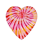 Heart Box, Tie-Dyed, 8 oz., QTY/CASE-24