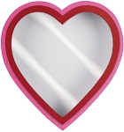 Heart Shaped Candy Box, Window, Coco Passion, Pink, 1 lb., QTY/CASE-12