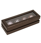Rigid Set-up Box, Truffle Window Box, 4-Piece, Deco Bronze, QTY/CASE-12