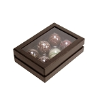 Rigid Set-up Box, Truffle Window Box, 6-Piece, Deco Bronze, QTY/CASE-12