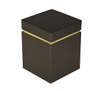 Rigid Set-up Box, Gift Box, Cube with Lid, Deco Bronze, QTY/CASE-12