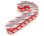 Rigid Set-up Box, Striped Candy Cane with Window Film, QTY/CASE-12