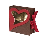 Rigid Set-up Box, Window Box, Coco Passion Open Book Box, 3 oz., QTY/CASE-24