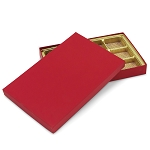 Rigid Set-up Box, Gift Box, Single-Layer, Rectangle, 16 oz., Soft Touch Finish, Red, QTY/CASE-12