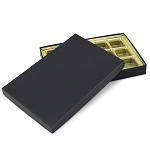 Rigid Set-up Box, Gift Box, Single-Layer, Rectangle, 16 oz., Matte Finish, Black, QTY/CASE-12
