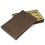 Rigid Set-up Box, Gift Box, Single-Layer, Rectangle, 16 oz., Deco Bronze, QTY/CASE-12
