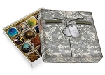 Military Green, Decorative Gift Box, 5-1/2 x 5-1/2 x 1-1/8