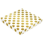 Gold Dots, Decorative Gift Box, 7-1/2 x 7-1/2 x 1-1/8