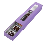 Folding Carton, Slider Box, 5-Piece, Standard, Lavender, QTY/CASE-50