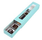 Folding Carton, Slider Box, 5-Piece, Standard, Robin Egg Blue, QTY/CASE-50