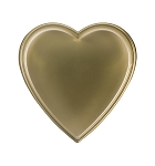 Heart Tray, Plastic, Gold, 8 oz., Single Cavity, 6 x 6 x 1