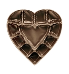 Heart Tray, Plastic, Brown, 8 oz., 12 Cavity, 5-3/4 x 6 x 1
