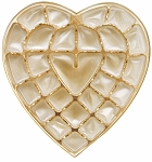 Heart Tray, Plastic, Gold, 1 lb., 27 Cavity, 8-3/4 x 9-1/2 x 1