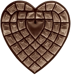Heart Tray, Plastic, Brown, 1-1/2 lb., 42 Cavity, QTY/CASE-50