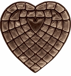 Heart Tray, Plastic, Brown, 2 lb., 55 Cavity, QTY/CASE-50
