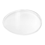 Tray, Single Cavity, Oval, Clear, 5-1/2 x 3-3/4 x 1
