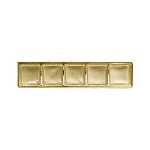 Tray, Standard, 5 Cavity, Rectangle, Gold, 8-3/4 x 2 x 1