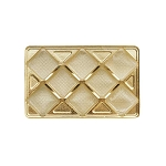 Tray, Rectangle, Gold, 8 oz., 8 Cavity, QTY/CASE-50