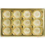 Tray, Rectangle, Gold, 16 oz., 12 Cavity, Round Cavities, 9-1/2 x 6 x 1