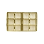 Tray, Rectangle, Gold, 8 oz., 12 Cavity, QTY/CASE-50
