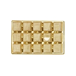 Tray, Rectangle, Brassy Gold, 8 oz., 15 Cavity, QTY/CASE-50